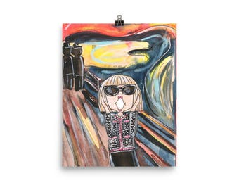 The Scream Anna Art Print