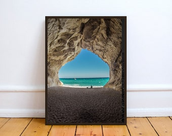Cave,Photo,Digital,Download,Decor,Home,Office,Tropical,,Turquoise,Ocean,Gift,Baby Shower,Gift,Coast,Coastal
