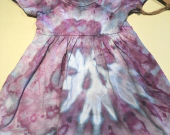 12-18 mth purple muck ice dyed dress 12-18mth