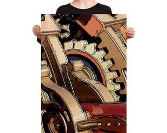 Art on Canvas - 24x36 - Gear Shift