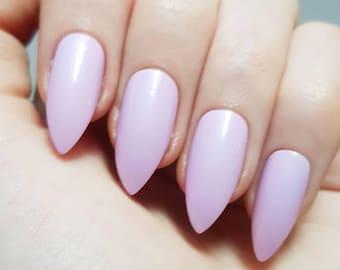 Soft Purple False Nails