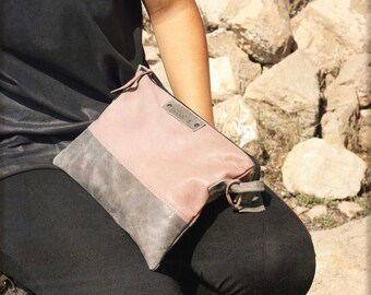Small leather bag, leather crossbody bag, leather crossbody purse, small leather purse, zipper leather bg, small clutch, small shoulder