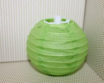 1 x green 10cm paper Chinese Lantern/Lantern