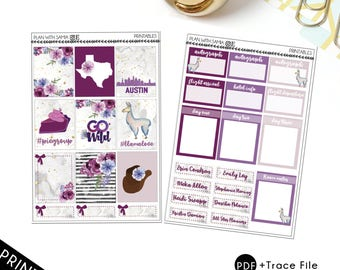 GO WILD Official Planner Printable Stickers for Erin Condren and A5 planners
