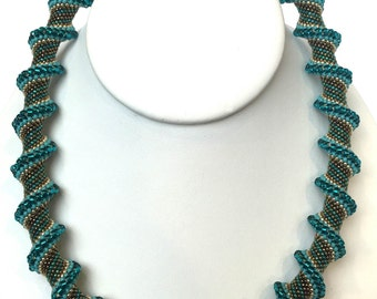 Turquoise Cellini Spiral Necklace