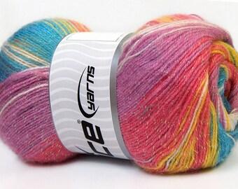Angora Color Glitz Turquoise Shades, Pink, Lilac
