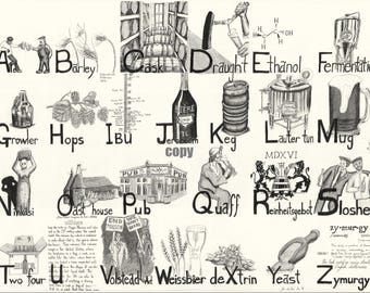 Beer Alphabet Print