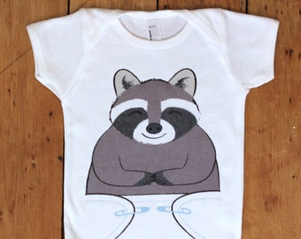Cute Baby Onsies - Raccoon Baby Clothes - Racoon Baby Onesie