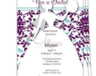 Digital File Print it Yourself/Bridal Shower Invitations/Wedding Shower Invitations/Bride to be Invitations/Couples Bridal Shower Invites