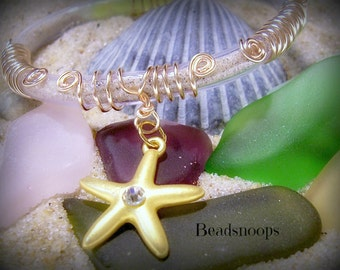 Fill your own-wire wrapped Beach sand bracelet