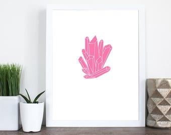 Pink Crystal Print