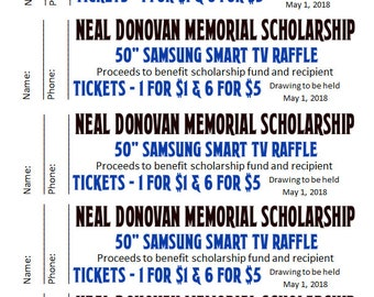 Customized Raffle Tickets