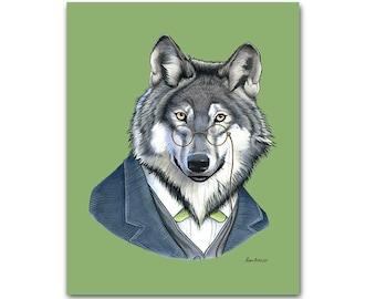 Wolf art print by Ryan Berkley 5x7