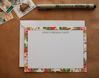 Personalized Watercolor Stationery - Set of 25 notecards