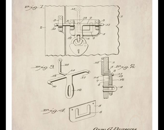 Instant Download, Patent Print, Barn Door Hardware, Farmhouse Decor, Home, Farm, Mechanical Art, Vintage Illustration, Blueprint Art