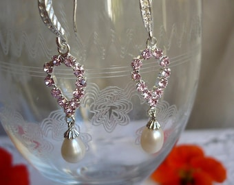 Earrings Crystal and freshwater pearls