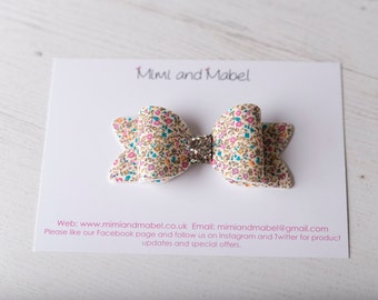 Liberty bow - Liberty baby - toddler hair clips - baby headbands - Liberty of London - baby hair bow - baby hair clip - Liberty headband