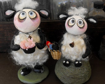 SALE Made to order Spooky Hollow  Grimmy Easter sheep dolls