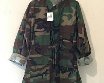 Unisex Camo Army Fatigue Jacket