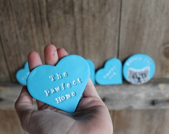 Clay heart business photo props, business logo props, heart clay keepsakes, small business, craft business clay tags