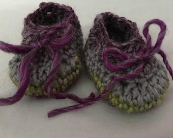 Ella Bellas Baby Booties Crochet Pattern ~ Reusable Booties ~ DIY