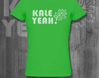 Kale Yeah Tshirt  Farm T shirt Foodie T shirt Farm food Tshirt Funny Veggie Tee Plus size clothing Father's Day gifts for him dad husband