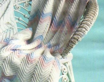 Baby Crochet Pattern, Simple Baby Afghan Crochet Pattern, Ripple or Zig Zag Baby Blanket Pattern, INSTANT Download Pattern PDF (1320)