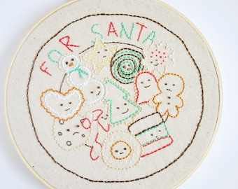 Cookies for Santa - Christmas Treats PDF Embroidery Pattern