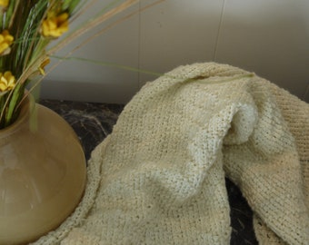 Knitted Light Yellow Baby Blanket