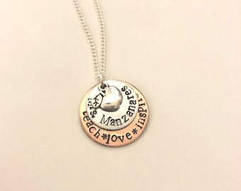 Hand Stamped Teacher Appreciation Necklace