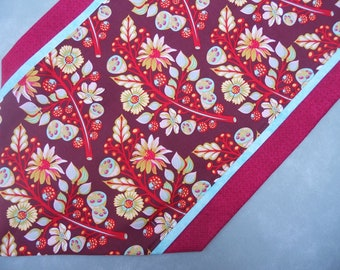 Floral Table Runner, Home Decor, Table Linen, Contemporary, Tula Pink