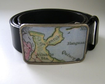 Squantum Quincy  belt buckle- gift boxed