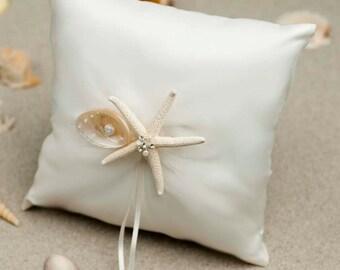 Starfish and Shell Beach Ring Pillow - 75205