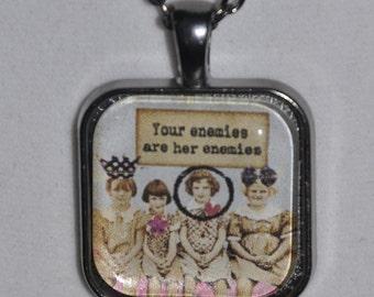 Friendship Necklace Key Ring Vintage Style Image  #896