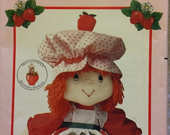 Strawberry Shortcake Stuffed Doll Sewing Pattern Butterick 6173  Uncut  Complete 21 inch Doll and Clothes