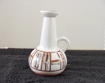 Lapid Israel Art pottery Pitcher vase mid century modern abstract