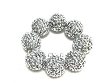 Baby, Toddler, Girls, Teen, Ladies All Bling Silver Sparkle Chunky bracelet - Princess bracelet - Flower girl bracelet - Holiday bracelet