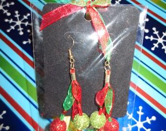 Jingle Balls - Ribbon Earrings