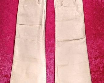 Vintage Kid Leather Elbow gloves ~ Size 6 1/2 ~ Gant's Aris