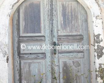 """Doors Photography """"Arched Door #11, Santorini, Greece """""""