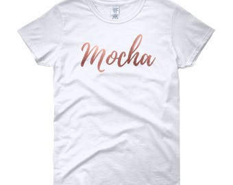 Flex in your complexion with this Mocha Women's short sleeve t-shirt