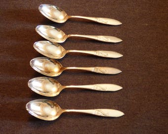 Silver plated tea spoons x6