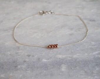 FRIENDSHIP bracelet - 14kt gold filled and sterling silver - by STICKTAILS