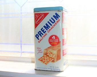 Vintage Nabisco Crackers Tin Retro Kitchen Decor