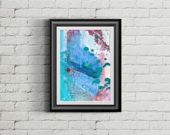 Archipelago - Giclee Fine Art Print of Mixed Media Painting