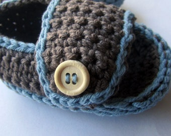 Crochet Cotton Baby Sandals, Sporty and Casual sandals, baby booties, baby slippers // Many sizes and colors to choose from