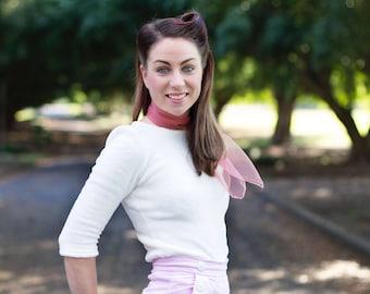 Rita | White 1940's/1950's Inspired Sweater