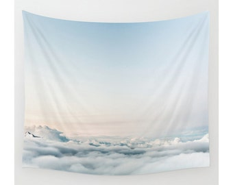 Cloud Tapestry, Wall Tapestry, Clouds, Sky Tapestry, Photo Wall Art, Boho Wall Tapestry, Modern Tapestry, Boho Chic Decor, Home Decor
