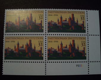 US Postage Stamps* Plate Block* Scott # 3059** Smithsonian Instittion** 4 @ 32 cent MNH