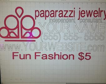 Fun Fashion 5 paparazzi jewelry car decal